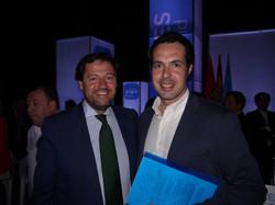 Con el candidato de Las Rozas