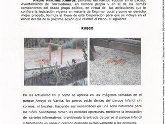 Ruego espacio animal Arroyo Varela