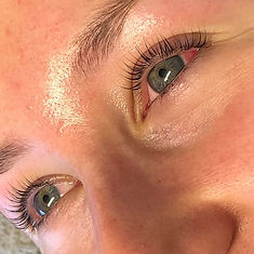 Before and after Lash lift and tint toda