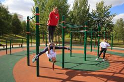 Workout-площадка в Парке Михаила Павлова, Минск, Беларусь