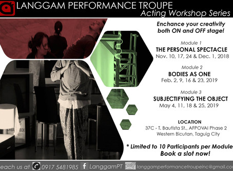 Langgam Performance Troupe rolls out acting workshop series