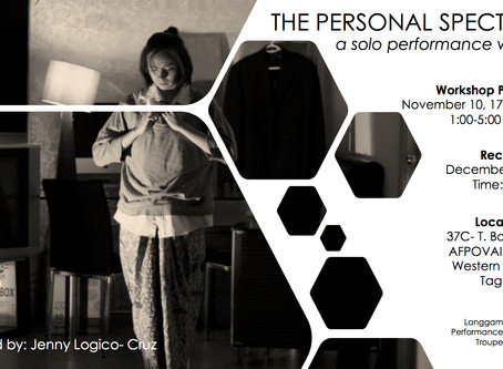 Module 1- The Personal Spectacle: A Solo Performance Workshop