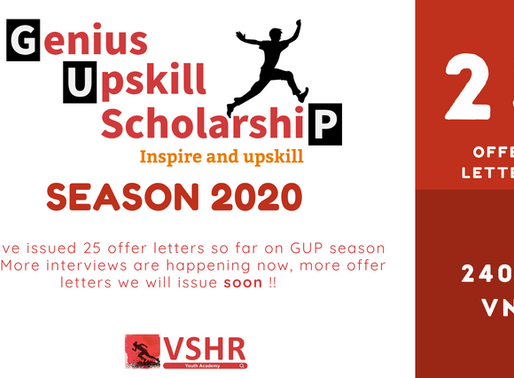 25 GUP Scholarship offer letters already provided for the Vietnamese youth on season 2020