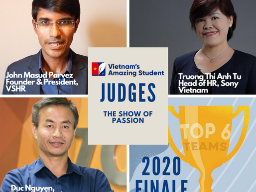 Vietnam's Amazing Student 2020 Finale the Judge panel