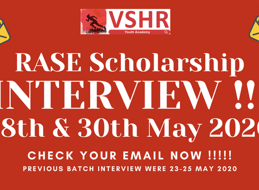 RASE Scholarship 2020 Interview round is in program