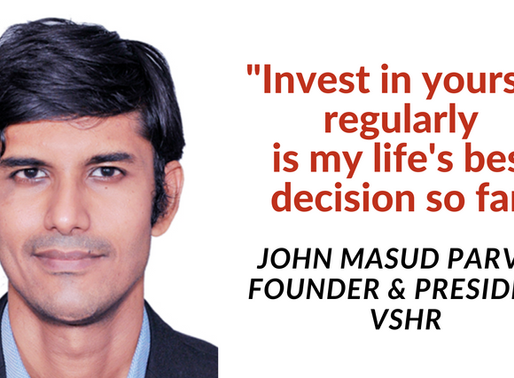 Investing in myself is my best decision of my life by John Masud Parvez