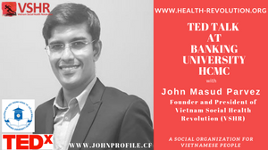 John Masud Parvez Speaking at TEDx Event at Banking University, Ho Chi Minh