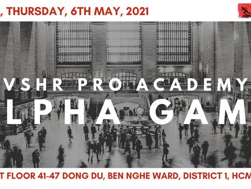 VSHR Pro Academy Alpha Game on May 2021