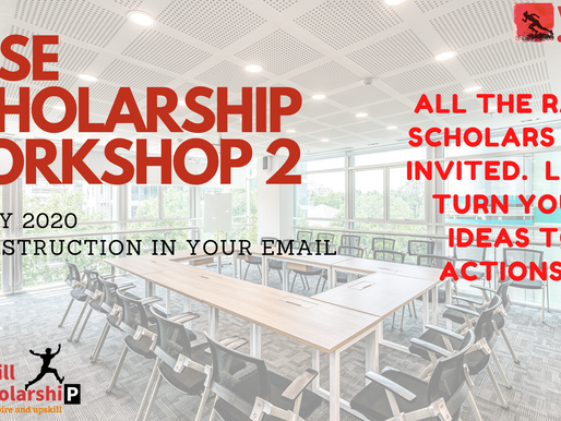 RASE Scholarship 2020 Workshop 2 happening this weekend