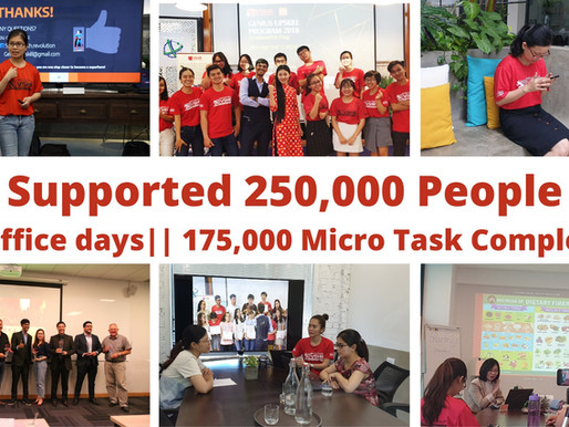 Vietnam Social Health Revolution Support 250,000 people on 2019 by completed 175,000 micro tasks