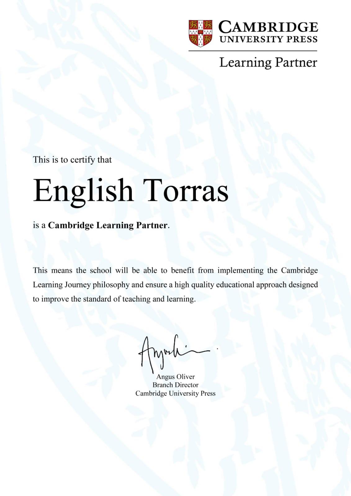 certificat cambridge