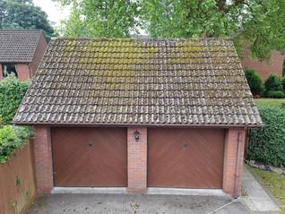 Garage Roof Before SoftWashing