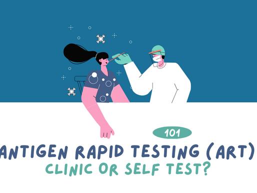 Antigen Rapid Testing 101: Clinic or Self test?