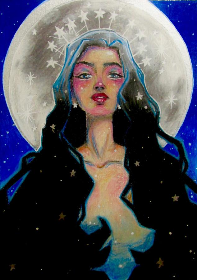 the moon, she speaks