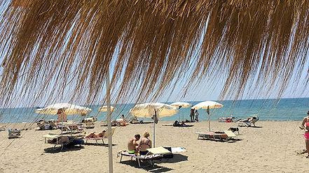Stabilimento paradise beach Primo dei cacelli di Osti castel porziano