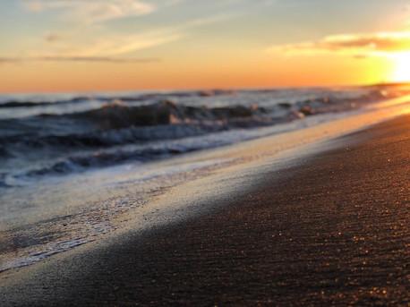 tramonto al primo cancello di ostia