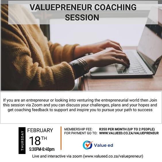 Valuepreneur Coaching Session