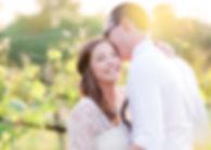 Romance in a wine vineyard