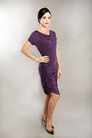 purple cocktail dress slim dress singapore