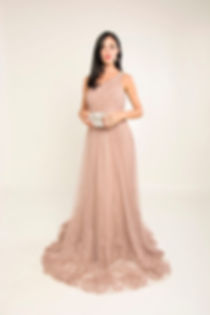 nude elegant evening gown singapore