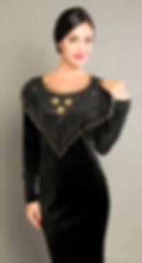black vintage velvet dress, singapore