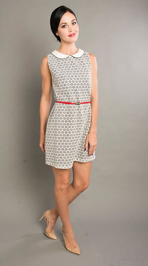 silver polka dot office dress singapore