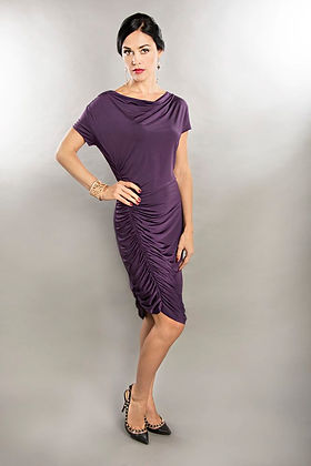 purple cocktail dress singapore
