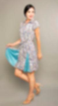 blue office dress singapore