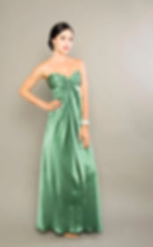 lake green silk prom dress singapoe