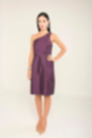 purple one shoulder cocktail dress singapore