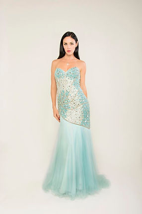 mint green sequin evening gown singapore