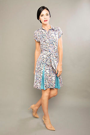 blue and floral office dress singapore