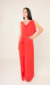 orange prom dress singapore
