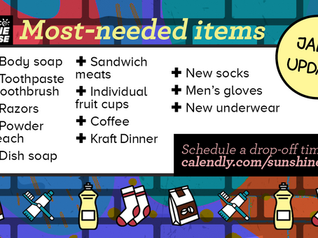 Most-needed Items for January 5, 2021