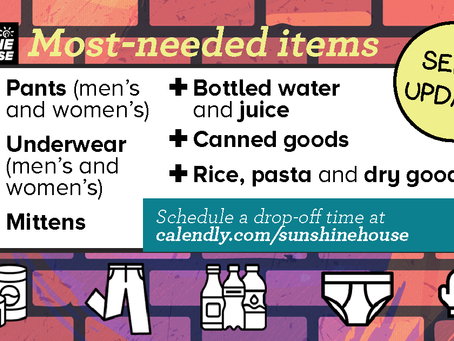Most-needed items for September