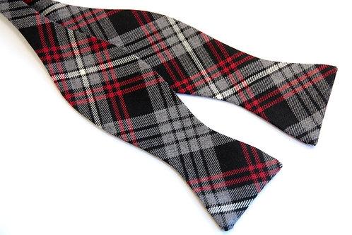 Auld Lang Syne Grey Tartan 'Gentleman' Bow Tie