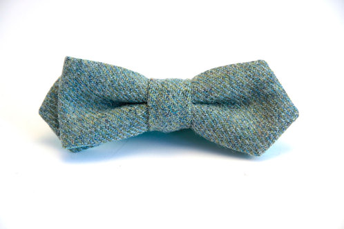 Sea Green Tweed 'Slim Jim' Bow Tie