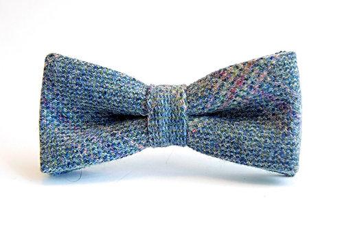 'Sandpiper' Blue Tweed 'Sophisticate' Bow Tie