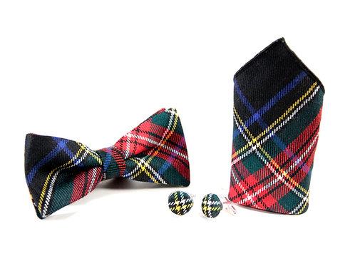 Stewart Black Tartan Gift Set