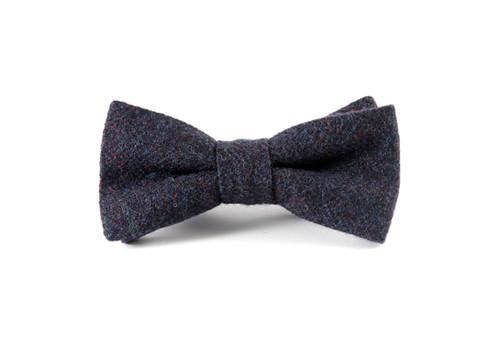 674272df6e44 'Navy Herringbone' Tweed 'Sophisticate' Bow Tie