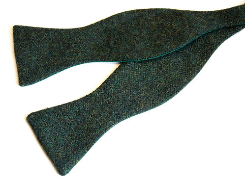 Green Tweed 'Gentleman' Bow Tie