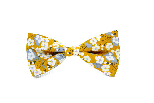 Mustard Floral Liberty Print 'Sophisticate' Bow Tie