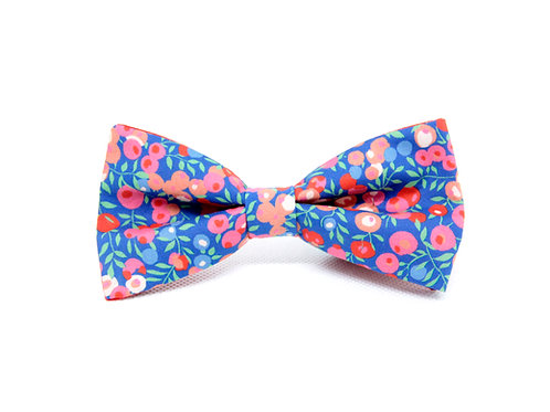Red Berry Liberty Print 'Sophisticate' Bow Tie