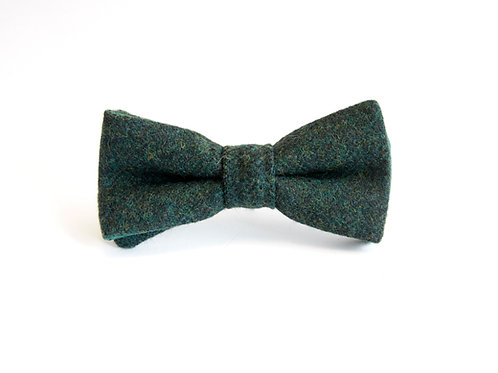 Dark Green Tweed 'Sophisticate' Bow Tie