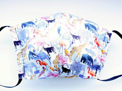 Liberty Print Face Mask - Queue For The Zoo