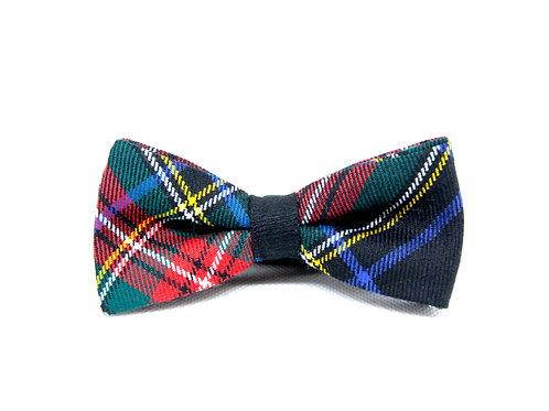 Black Stewart Modern Tartan 'Sophisticate' Bow Tie