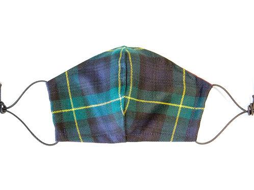 Gordon Modern Tartan Wool Face Mask