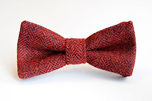 Red Tweed 'Sophisticate' Bow Tie