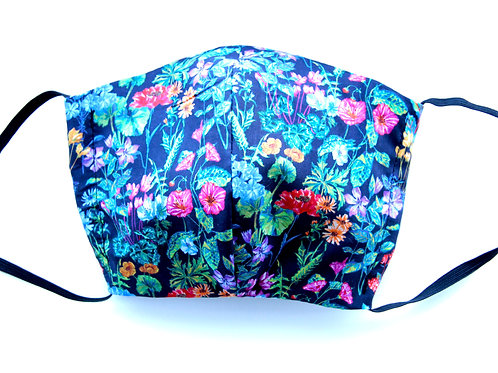Liberty Print Face Mask - Midnight Garden II
