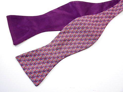 Purple Poly Silk 'Gentleman' Bow Tie